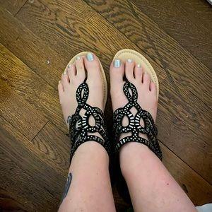 Just Fab embellished sandals size 8.5
